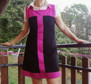 Refashioned 1060s Mod Dress