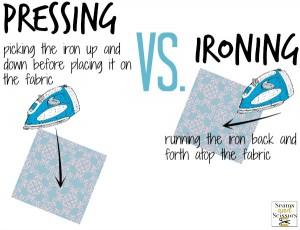 Pressing Vs. Ironing