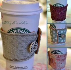 Coffee Cozy with Button