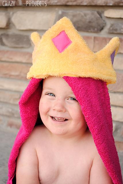 Princess Hooded Towel Tutorial