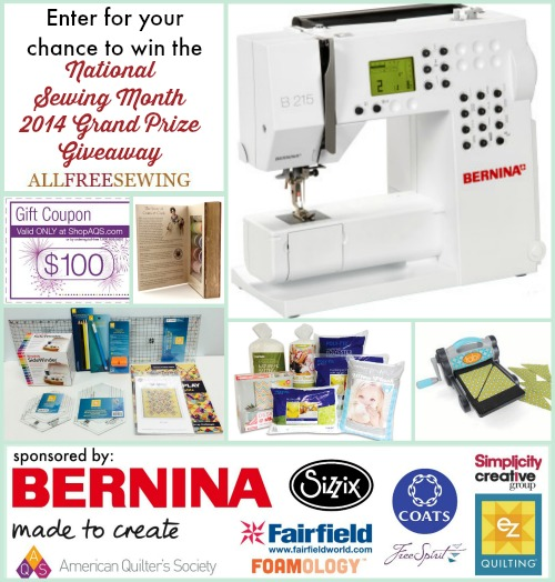 National Sewing Month 2014 Grand Prize Giveaway