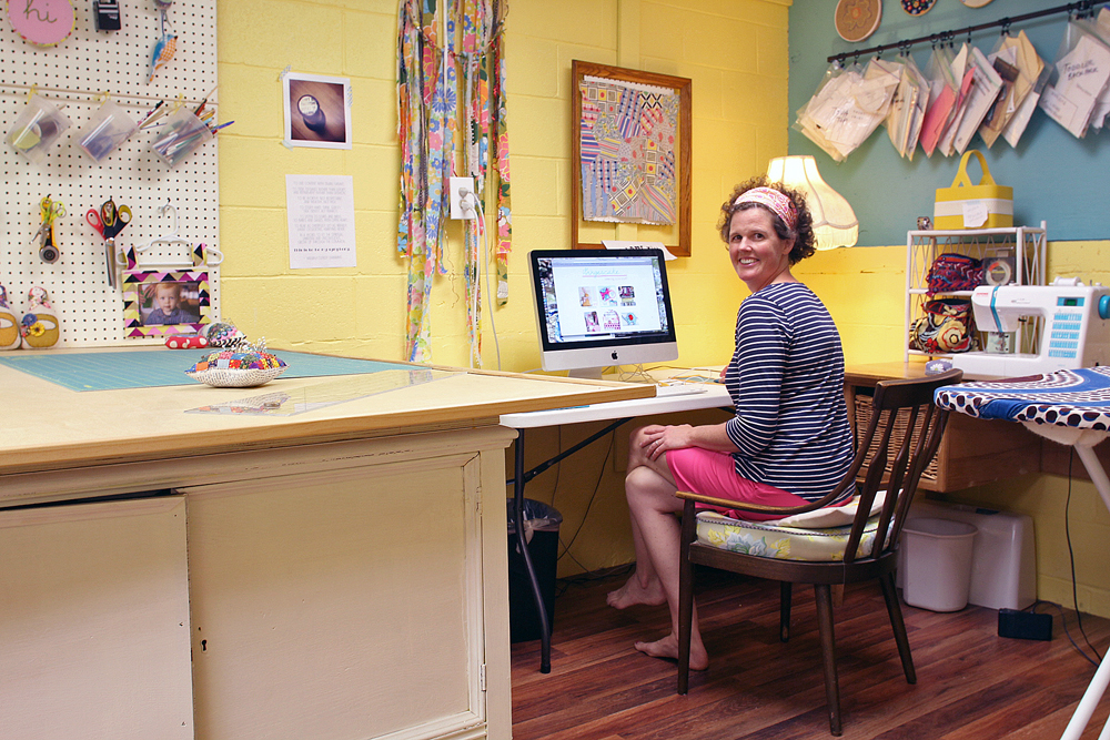 A Peek Into A Dream Sewing Space From Gingercake Seams