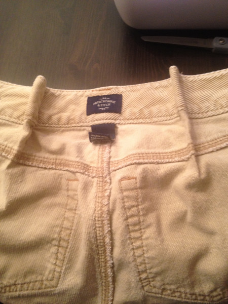 Alteration: Taking in Women's pants by darting from Refashion Mama