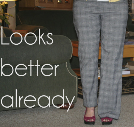 DIY Create Skinny Trousers from Wide Legs Tutorial from The Renegade Seamstress