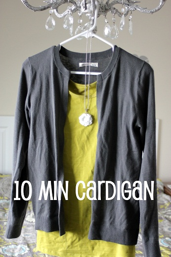 10 Minute Sweater to Cardigan Transformation