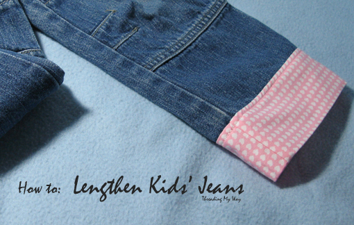 How to Lengthen Kids' Jeans