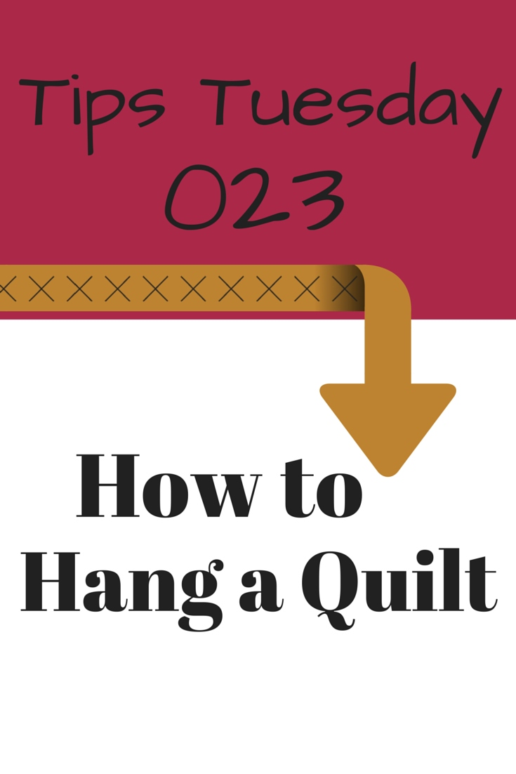 how to add a hanging sleeve to a quilt