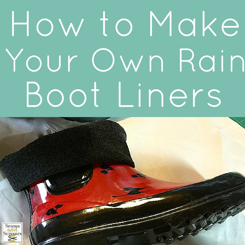 How to Make Your own rain boot liners social media square