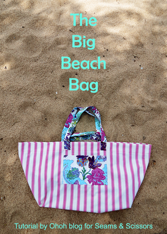 the big beach bag sewing tutorial ohohblog 1txt