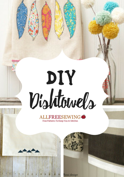 15 DIY Dish Towel Patterns for Lazy Sunday Sewing - Seams And Scissors