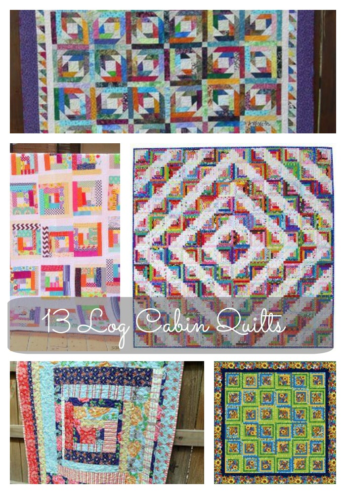 13 Easy Rustic Log Cabin Quilts And Squares Seams And