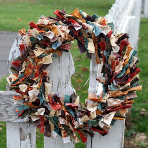 Rustic Fabric Wreath