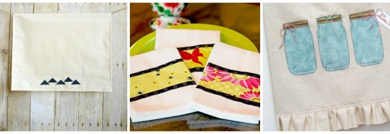 15 DIY Dish Towel Patterns for Lazy Sunday Sewing