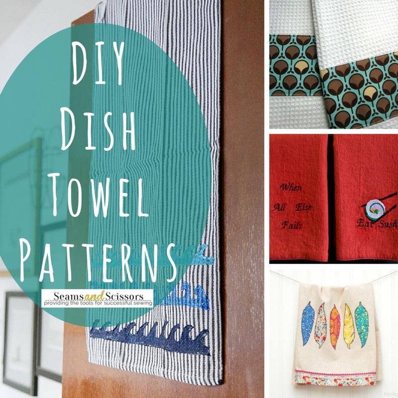 13 Delightful DIY Dish Towel Patterns - Seams And Scissors