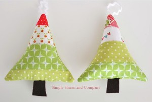Fabric Scraps Tree Ornaments