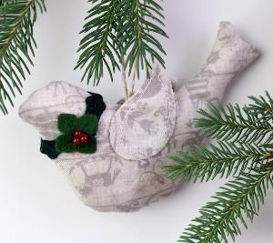 Holiday Dove Ornament