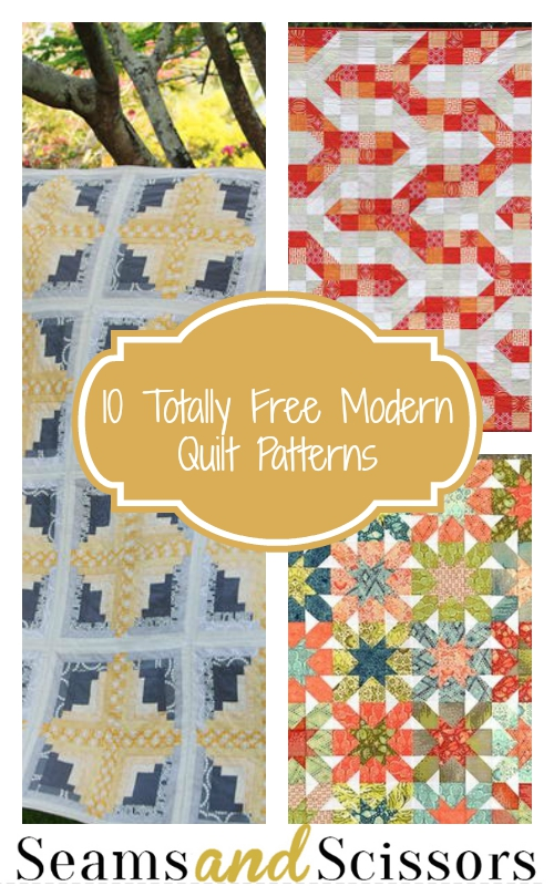 10 Totally Free Modern Quilt Patterns Seams And Scissors