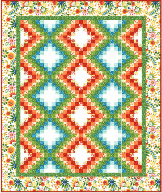 Free Quilt Pattern: Happy Garden Bargello from Kona Bay