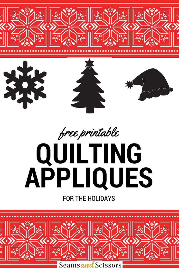 Free Printable Appliques