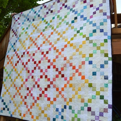 Super-Scrappy-Single-Irish-Chain-Quilt