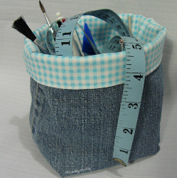 Upcycled Denim Basket