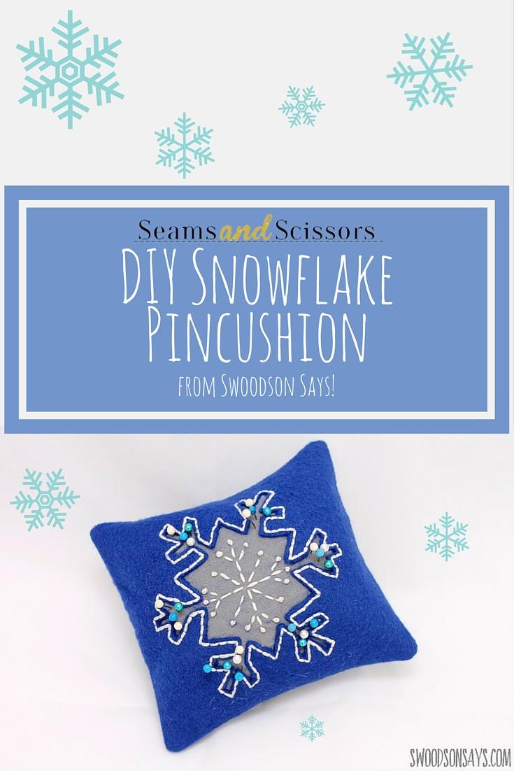 DIY Snowflake Pincushion
