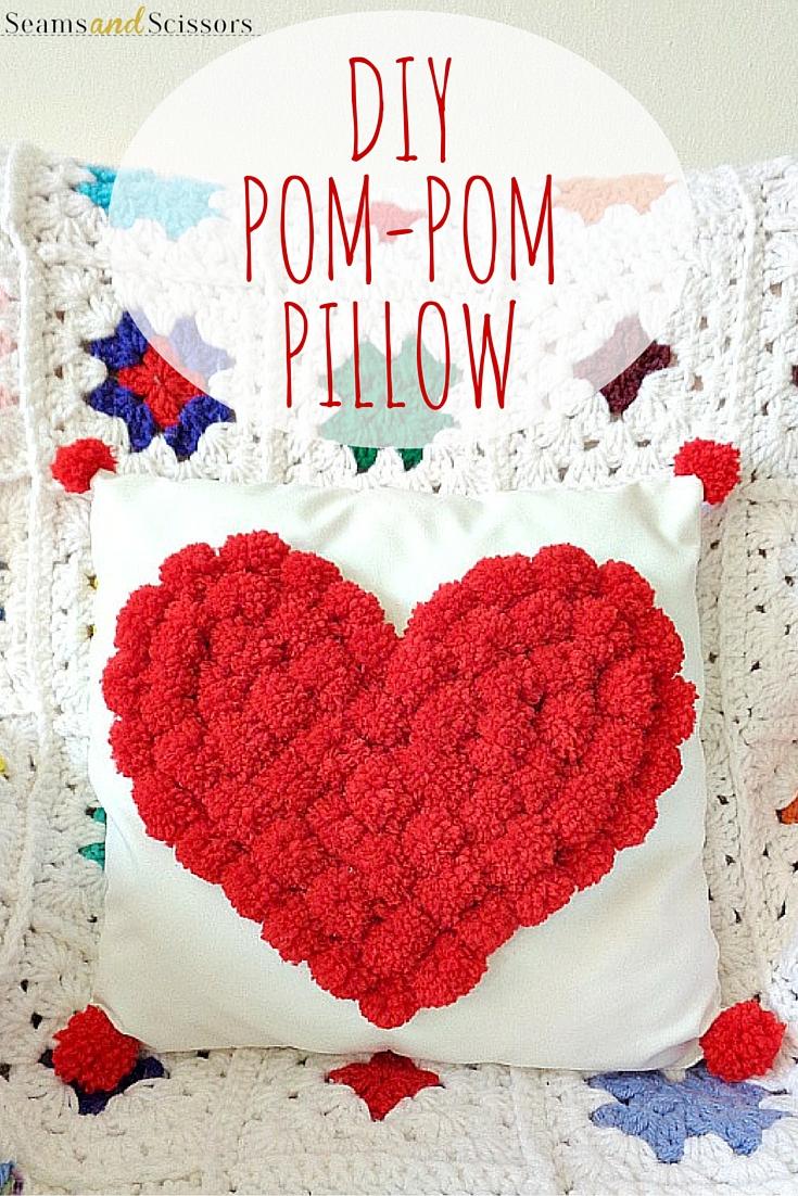 DIY Pom Pom枕头