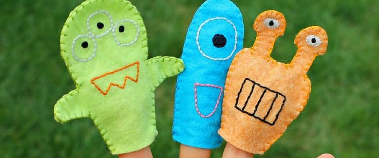 Sewing for Kids: Monster Finger Puppets Pattern