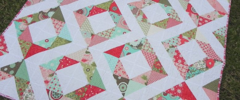 Easy Quilt Tutorial: Fresh Diamonds Quilt