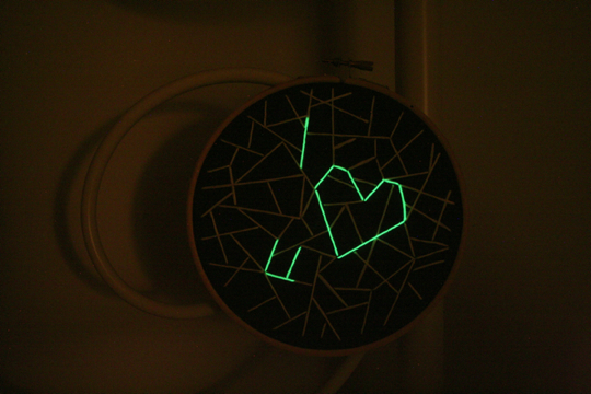 Glow in the Dark Embroidery