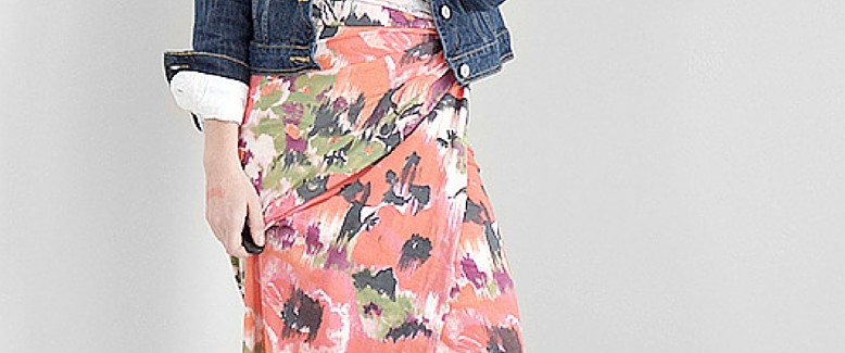 No-Sew: 1-Yard Floral Skirt