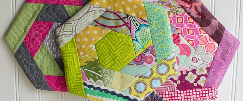 Quilted Hexi Potholders