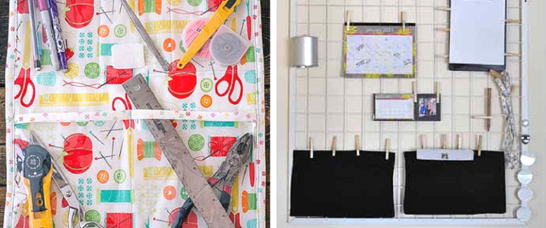 11 On the Wall DIY Organizers for Your Sewing Room