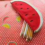 DIY Watermelon Pencil Bag by Katie Smith @punkprojects