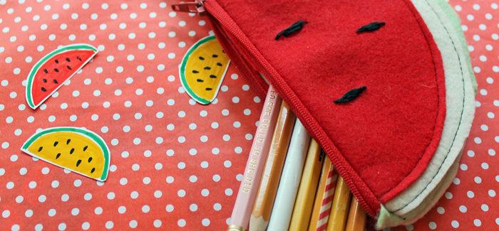 DIY Watermelon Zipper Pouch for Summer