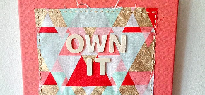 DIY: Bright Fabric Scrap Wall Hanging