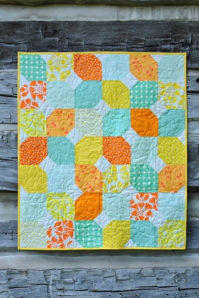 d6f6cee38cd51 Citrus Mint Baby Quilt - Seams And Scissors