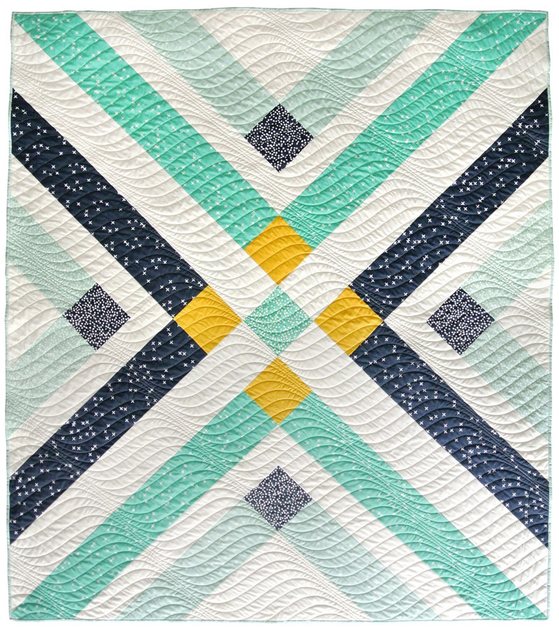 Retro Plaid Quilt Pattern