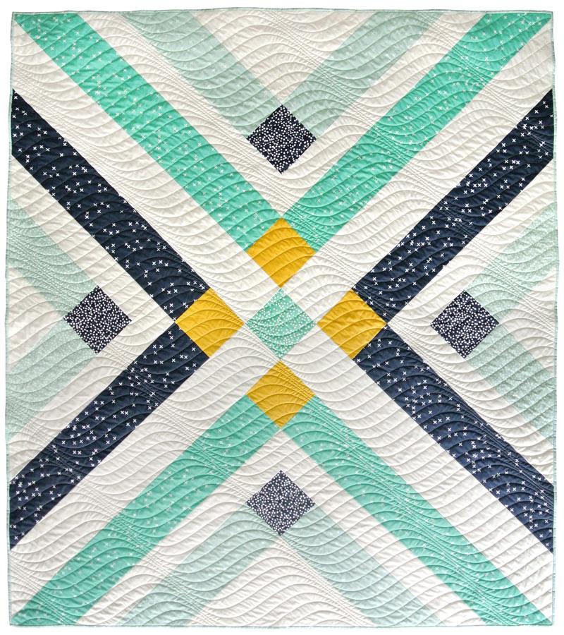Retro Plaid Quilt Pattern