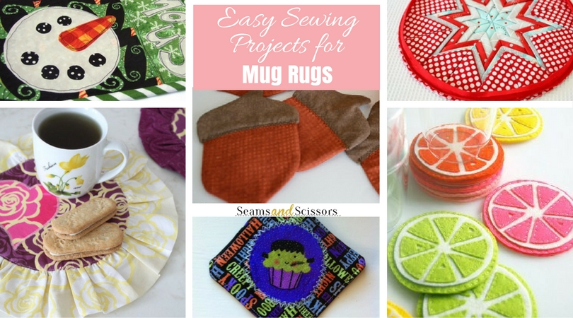16 Easy Sewing Projects for Mug Rugs