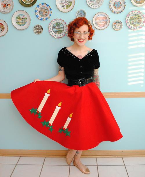 Very Retro Christmas Skirt