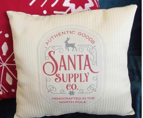 Vintage Santa DIY Pillow