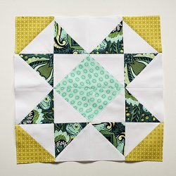 Sawtooth Star Quilt Block Pattern