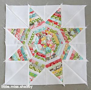 Kaleidoscope Star String Block