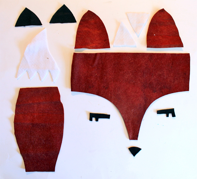 fox felt pieces