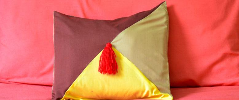 Colorblock Autumn Pillow Pattern