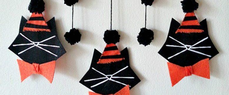 Halloween Black Cat Wall Hanging