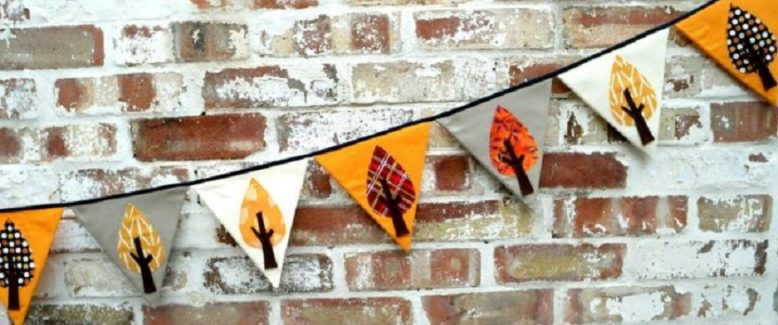 How to Make Autumn Bunting