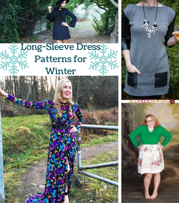 Long-Sleeve Dress Patterns for Winter