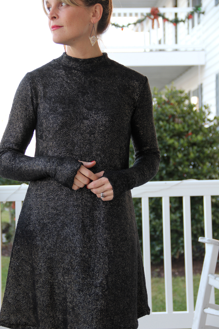 Mock Turtleneck Dress Tutorial